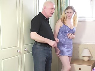 Flaxen-haired chick Mona B gets talked come by sucking and riding a dick