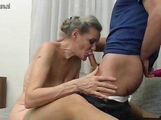 Granny suck and granny fuck young womanhood
