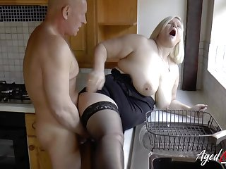 Busty mature blonde Lacey Starr got fucked hard on all the another places