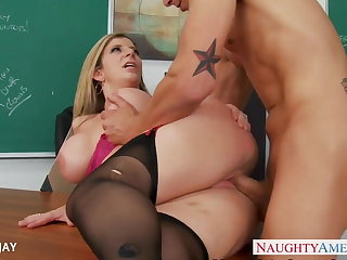 MILF Teacher Sara Jay be thrilled by student
