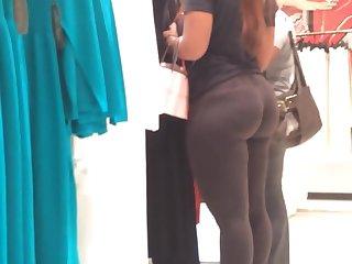 Phat Bubble Butt in Black Spandex