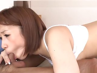Loved busty Japanese Circlet Ayase is sucking cock