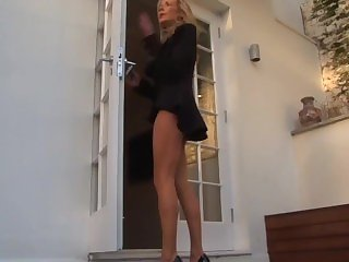 Smoking hot blond Milf smoking corks