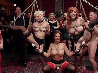 BDSM party with rich folks and sub sluts Lauren Phillips and Eliza Jane