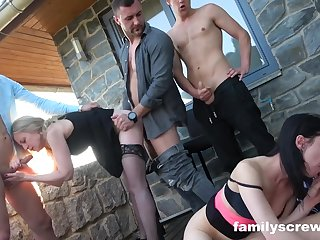 Poolside aged young party ogry swingers