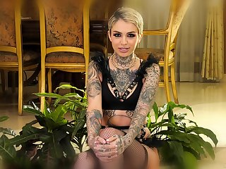 Inked pornstar neonate giving an honest interview and looking hot as hell