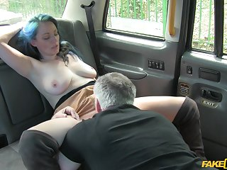 Jojo, a horny blue-haired hottie, has a empyrean time on every side her taxi driver