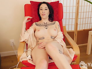 Yanks Brunette Selina Haze is Multi-Orgasmic