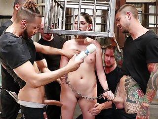 Depraved print probingly gangbang fro slutty pornstar Miranda Miller