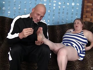 BBW in mature scenes of rough pussy sex