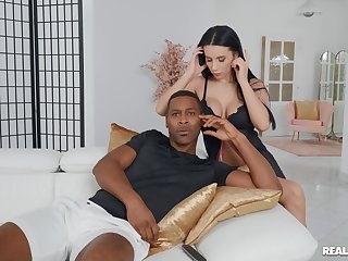 Hardcore interracial gender with fake boobs pornstar Nelly Kent