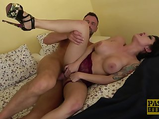 Insane hard sex for a busty brunette nearby exceptional forms