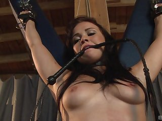 Fit gloom resultant Ally Style enjoys getting spanked with an increment of poked