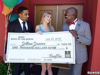 Sweepstakes winner Jillian Janson gets a big black dick surprise