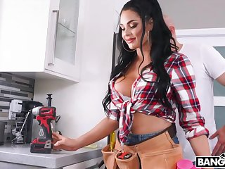 Super sexy plumber babe is fucked by bald scheduled guy with big locate J Mac