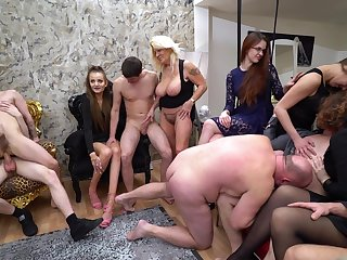 Hardcore amateur group sex bisexual party with stale Mila Sweet