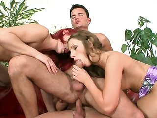 Dirty bisexual orgy with naughty Debbie White and her friends