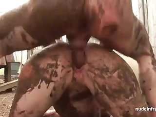 Bony inexperienced brown-haired rectal banged n spunked alfresco in a filthy french work on
